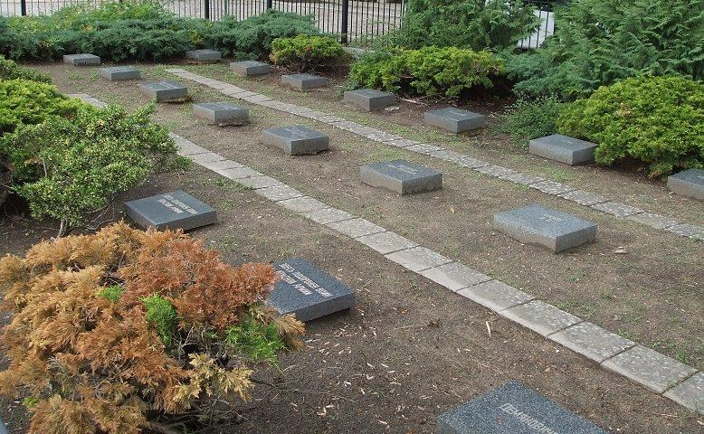 Индивидуальные могилы на кладбище.