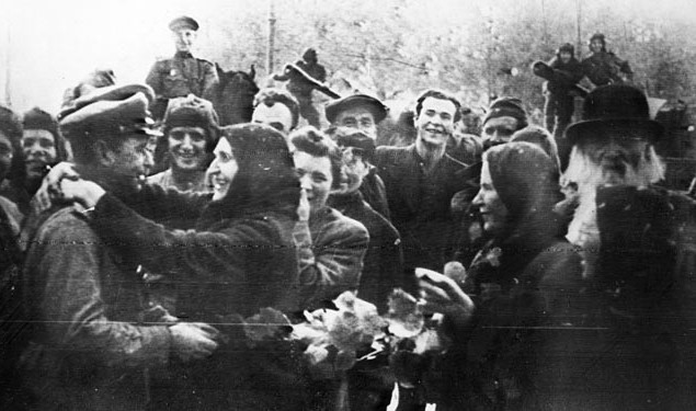 Встреча освободителей. Октябрь 1944 г.