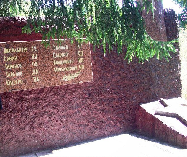г. Речица. Братская могила советских воинов на территории Речицкого гидролизного завода.