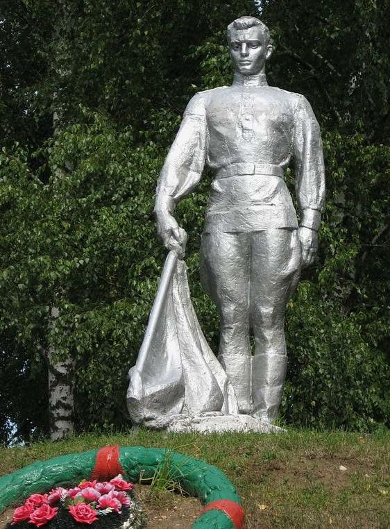 д. Гравжишки Ошмянского р-на. Памятник воинам-землякам, погибшим в годы войны.