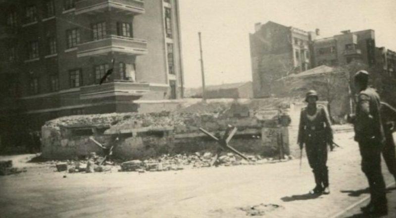 Фельджандармерия на проспекте Буденного. Август 1942 г.