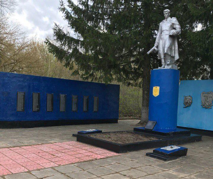 д. Хорошевка Добрушского р-на. Памятник погибшим землякам.