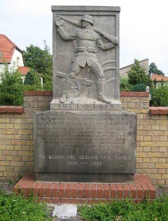 г. Людвигсфельде р-н Аренсдорф. Памятник землякам, погибшим в годы обеих мировых войн.