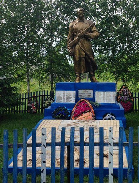 д. Большие Стрелки Рогачёвского р-на. Братская могила советских воинов.