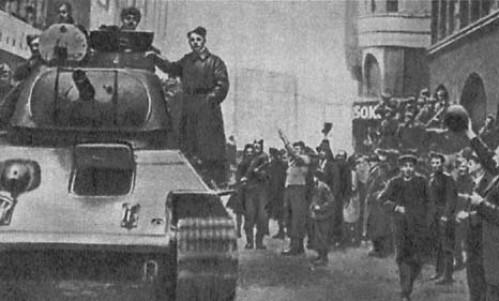 Красная Армия в Братиславе. Апрель 1945 г.