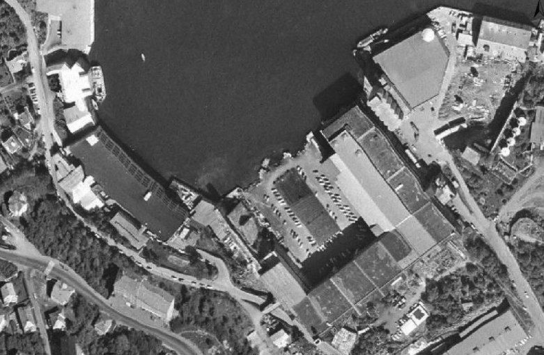 Вид на бухту с бункером «Bruno». 1944 г.