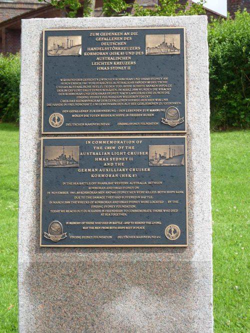 Коммуна Лабё. Памятный знак австралийским морякам, погибшим в годы Второй мировой войны.