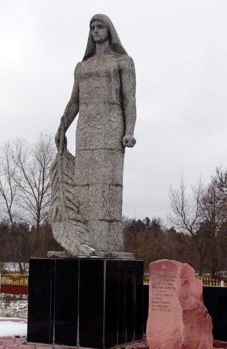д. Жуки Ельского р-на. Памятник жертвам фашизма.