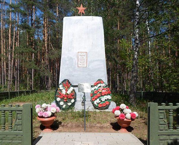 д. Новые Коноплицы Рогачевского р-на. Братская могила на деревенском кладбище.