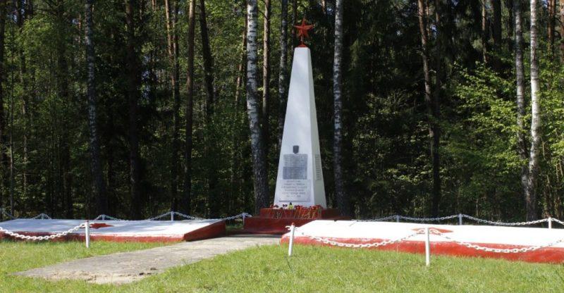 п. Гудогай Островецкого р-на. Памятник советским воинам.