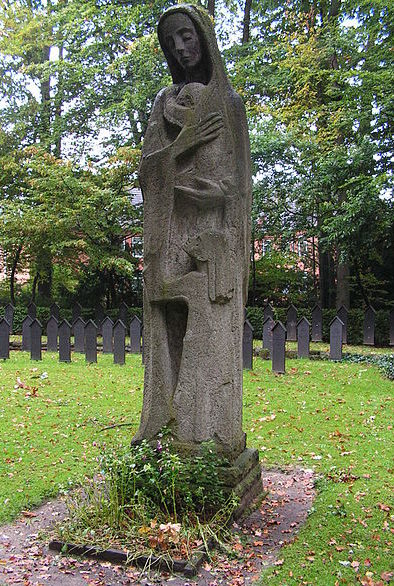 г. Любек. Мемориал «Мать», установленный память о жертвах бомбардировки 29 марта 1942 года.