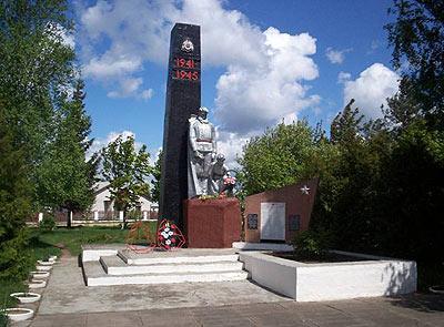 д. Великое Село Свислочского р-на. Памятник 128 землякам, погибших в годы войны.
