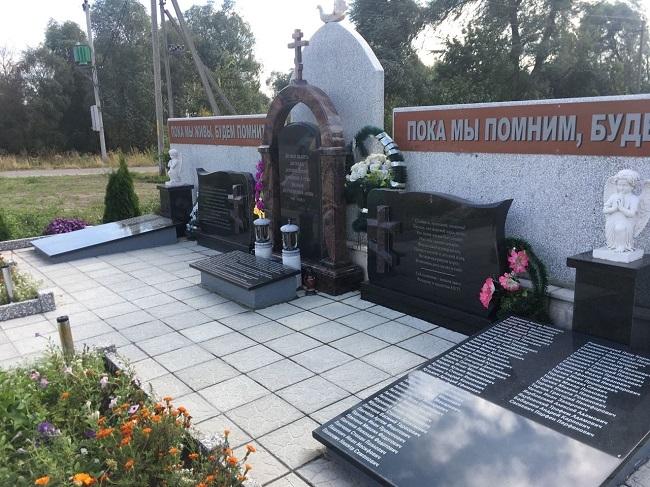 д. Погост Житковичского р-на. Памятник погибшим землякам, открытый в 2015 году.