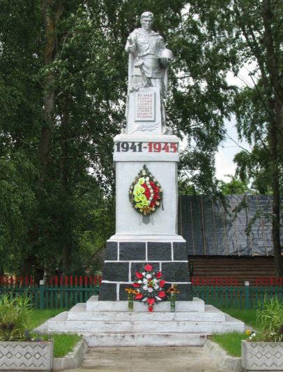 д. Рыбница Гродненского р-на. Братская могила, где захоронено 28 советских воинов, из них 26 неизвестных.