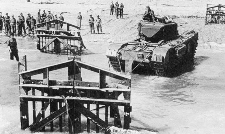 Преодоление английскими войсками «бельгийских ворот». 1944 г.
