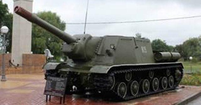 г. Туров. Памятник ИСУ-152 в честь Красной Армии.