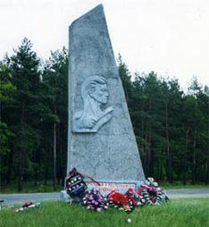 д. Л.Вирня Жлобинского р-на Памятник подпольщикам и партизанам Жлобинщины.