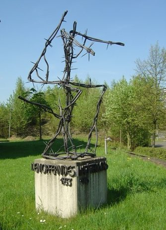 г. Штольберг. Памятник на месте трудового лагеря, в котором погибли 50 заключенных.