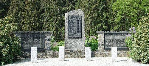 Коммуна Хольм. Памятник землякам, погибшим в обеих мировых войнах.