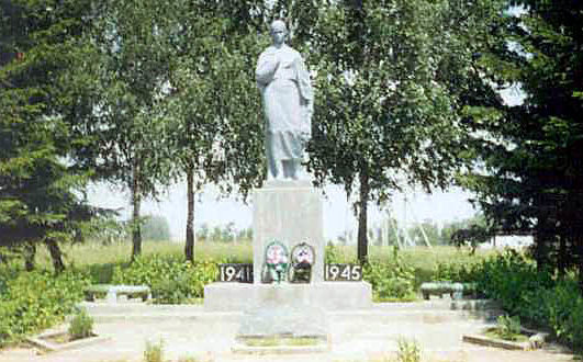 д. Драпово Слонимского р-на. Братская могила советских воинов.