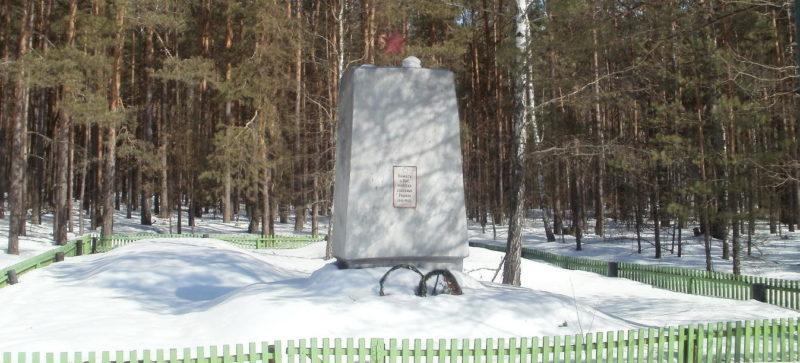 Рогачевский р-н. Братская могила на дороге Рогачёв-Слобода.