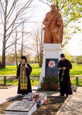 а.г. Боровики Светлогорского р-на. Памятник на братской могиле.