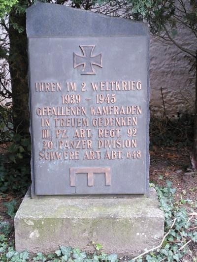 Коммуна Бейлштейн. Памятник немецким солдатам, погибшим во Второй мировой войне.