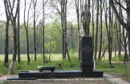 д. Апалино-Басино Дятловского р-на. Памятник, установленный в 1967 году в память о 31 земляке, не вернувшимся с войны.