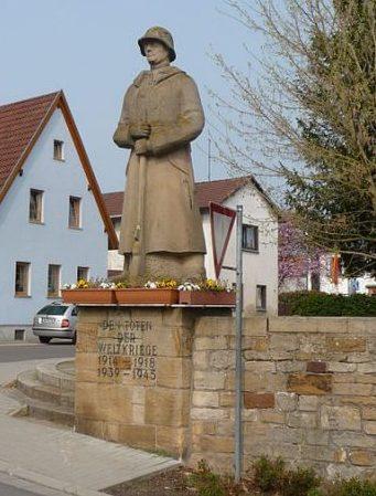 Коммуна Бергаузен. Памятник землякам, погибшим во время обеих мировых войн.