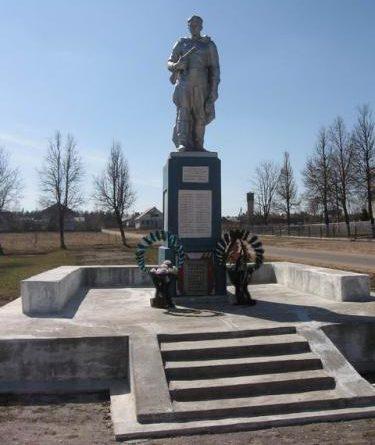 д. Белогурно Дятловского р-на. Памятник, установленный в 1967 году в память о 83 земляках, не вернувшимся с войны.
