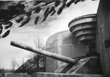 Egy 380 mm-es parti ütegágyú a háború alatt.