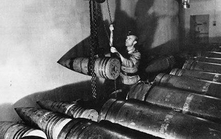 Kagyló a Mirus parti akkumulátor 305 mm-es fegyveréhez.  1944 g.