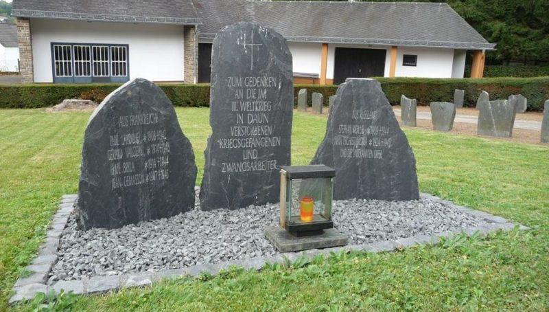 г. Даун. Памятник французским и советским подневольным работникам, погибшим во Второй мировой войне.