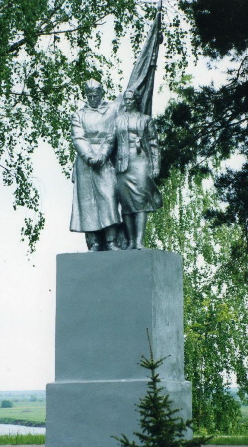 п. Стрешин Жлобинского р-на. Памятник, погибшим 319 землякам, погибшим в годы войны.