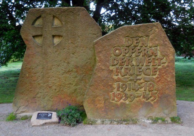 Коммуна Биспинген. Памятник жертвам обоих мировых войн.
