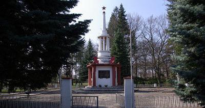 г. Фюрстенберг. Памятник, установленный на братской могиле, в которой похоронен 131 советский воин.