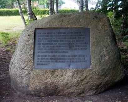 г. Блеккед, район Альт Гардж. Памятник на месте концлагеря, в котором содержалось 500 заключенных.