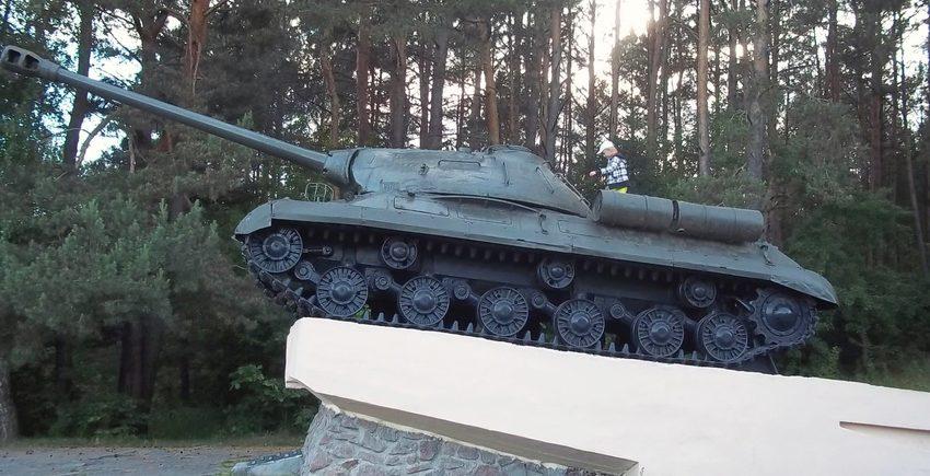 г. Сморгонь. Памятник-танк ИС-3.