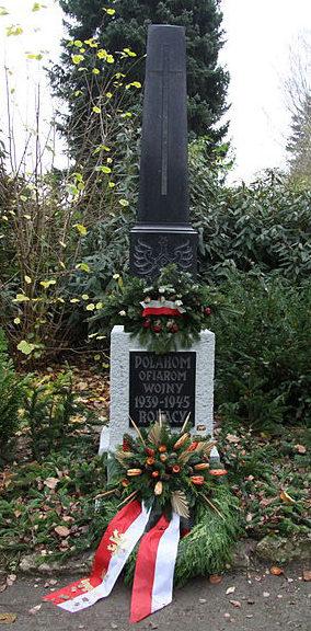 г. Брауншвейг. Памятник, установленный на братской могиле, в которой похоронен 351 польский подневольный рабочий.