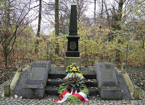 г. Брауншвейг. Памятник, установленный на братской могиле, в которой похоронено 10 советских подневольных рабочих.