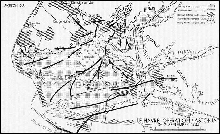 План операции «Astonia» по захвату Гавра.