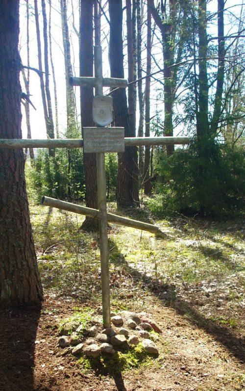 д. Хавсты Сморгонского р-на. Братская могила, где похоронено 30 советских воинов.