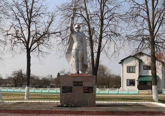 д. Борщевка Хойникского р-на. Памятник в зоне отчуждения, погибшим в годы войны.