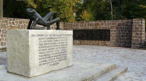 г. Шпремберг. Мемориал, посвященный жертвам национал-социализма и 24 погибшим заключенным концлагеря.
