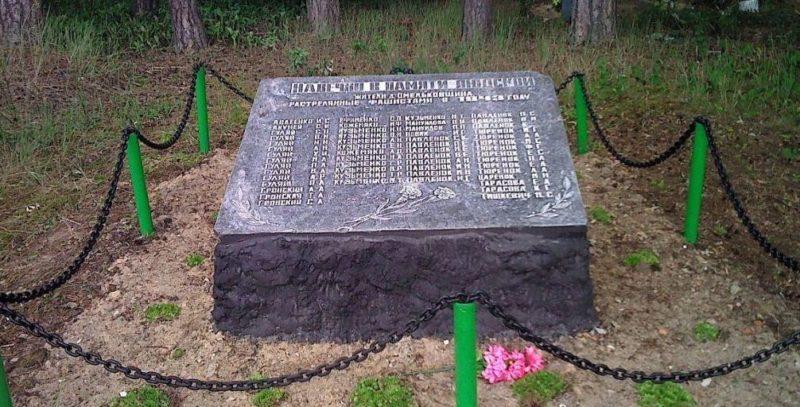 д. Омельковщина Хойникского р-на. Братская могила мирных жителей, расстрелянных фашистами.