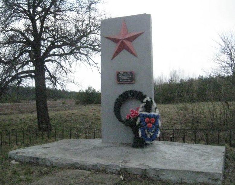 д. Тульговичи Хойникского р-на. Памятник партизанам-ковпаковцам.