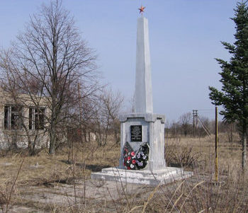 д. Тульговичи Хойникского р-на. Памятник в зоне отчуждения, погибшим в годы войны.