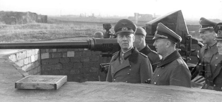 Роммель в Дюнкерке. Сентябрь 1943 г.