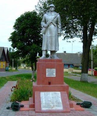 п. Острино Щучинского р-на. Памятник погибшим на войне.