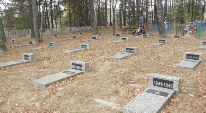 д. Ветвица Лельчицкого р-на. Воинское кладбище советских солдат.